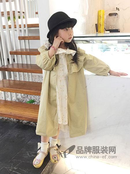 大茜小点童装2018春夏领薄外套长款中大女童休闲外套棉