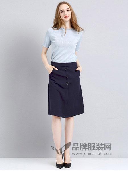 法妮女装2018春夏新款短裙子女A字裙半身裙潮流韩版