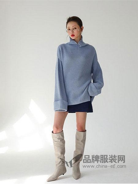 爱马丁女装2018秋冬韩版套头针织衫长袖百搭毛衣打底衫外套