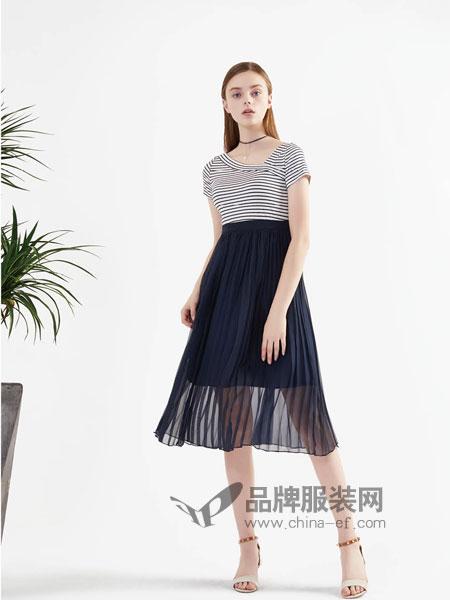 BUT(布同)女装2018春夏雪纺网纱裙子套装中长款两件套连衣裙