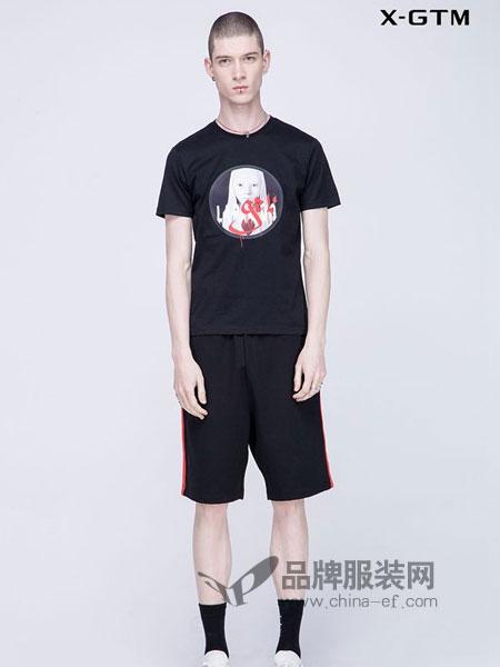 新格新 - X-GTM男装2018春夏个性刺绣印花体恤青年男装T恤