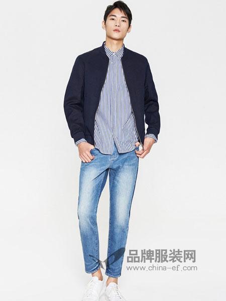 米安斯迪休闲2018春夏男士侧开叉韩版修身短款夹克外套