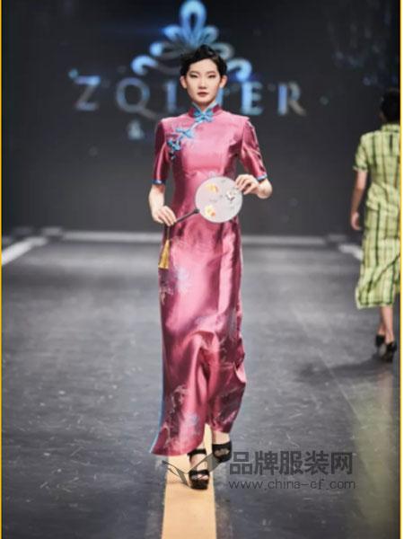 张秋儿/甬派旗袍女装2018春夏旗袍连衣裙中长款改良优雅日常老上海