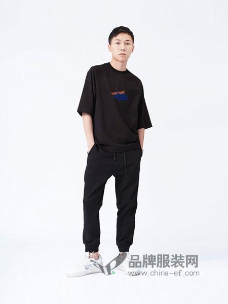 M-graph男装2018春夏宽松印花短袖上衣圆领T恤