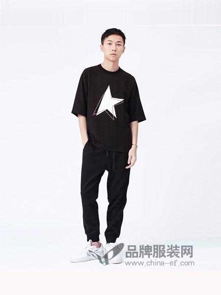 M-graph男装2018春夏纯棉宽松印花短袖上衣圆领T恤