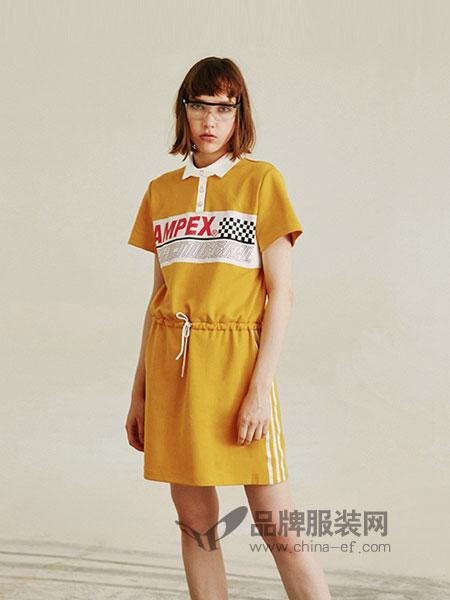 有瘾女装2018春夏短袖显瘦复古收腰冷淡风夏季连衣裙