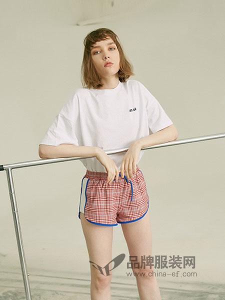 有瘾女装2018春夏新款字母短袖T恤纯色简约百搭宽松棉体恤