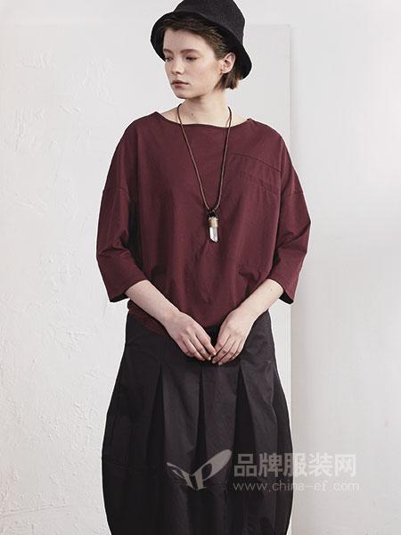 必然女装2018春夏英伦套头两件套羊毛酒红毛针织衫