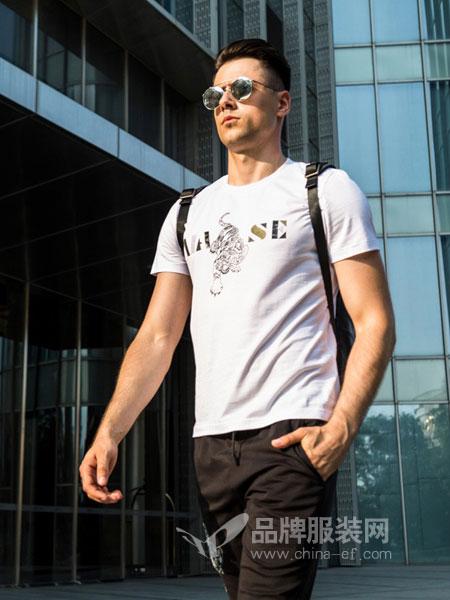 比亚图男装2018春夏短袖上衣修身韩版打底衫男装体恤潮
