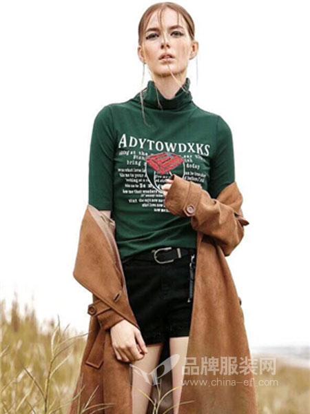 季歌品牌折扣女装女装2018秋冬修身显瘦休闲运动短袖