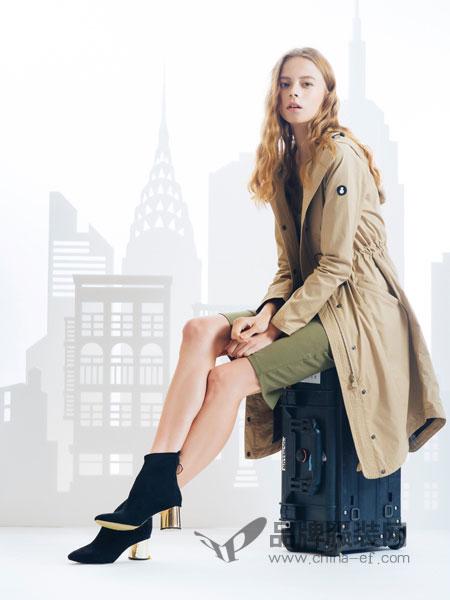 SNOWMAN NEW YORK女装2018秋冬两件套中长款宽松棒球服棉衣外套