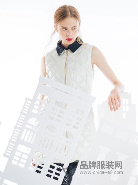 SNOWMAN NEW YORK女装2018秋冬新款A型绗缝羽绒马甲女