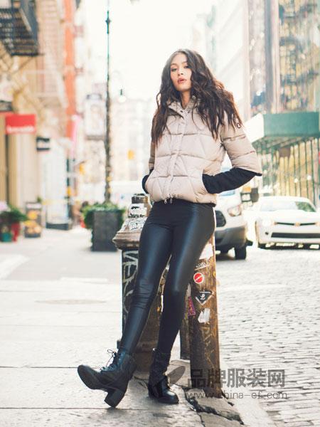 SNOWMAN NEW YORK女装2018秋冬 韩版 百搭宽松加绒皮裤女 高腰