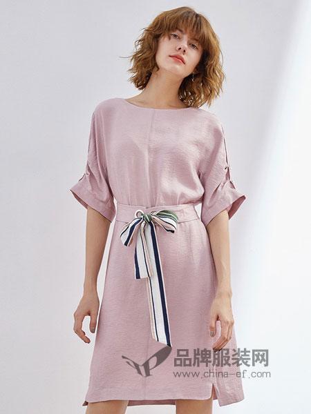 艺诗女装2018春夏新款韩版时尚百搭爆款连衣裙可随意收腰