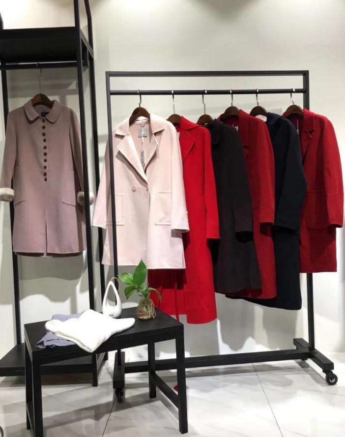 雪莱尔品牌折扣女装2017年慧之芳羊绒大衣双面呢大衣