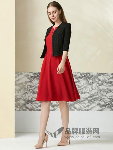 欧柏兰奴女装2018春夏休闲韩版小西装纯色无袖连衣裙两件套
