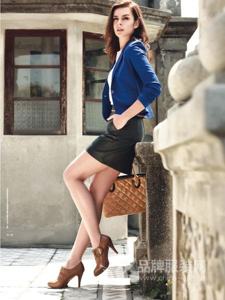 啄木鸟女装2018秋冬新款时尚修身西装气质百搭休闲短外套