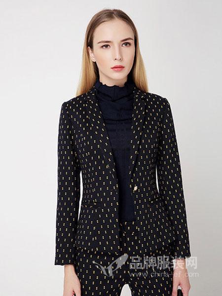 美亚美女装2018春夏新品 一粒扣西服领桑蚕丝上衣外套