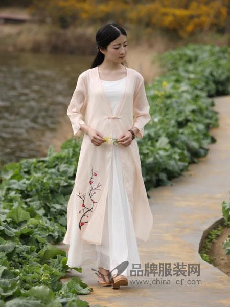 古时旧京女装2018春夏坊棉麻套装裙女神洋气绣花裙两件套