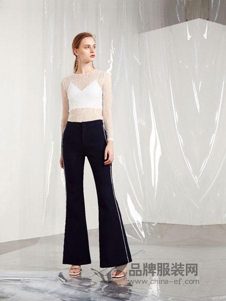 游悦YOEYYOU女装2018春夏新款韩版宽松显瘦黑色九分裤直筒休闲裤