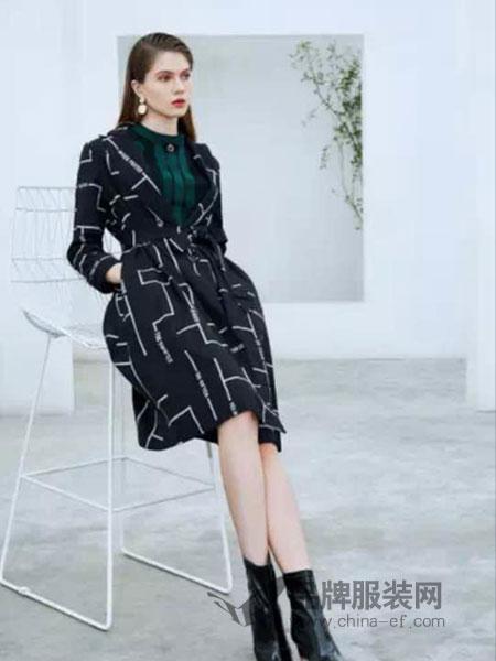 添姿女装2018秋冬镂空网纱披肩外搭薄款中长款开衫外套