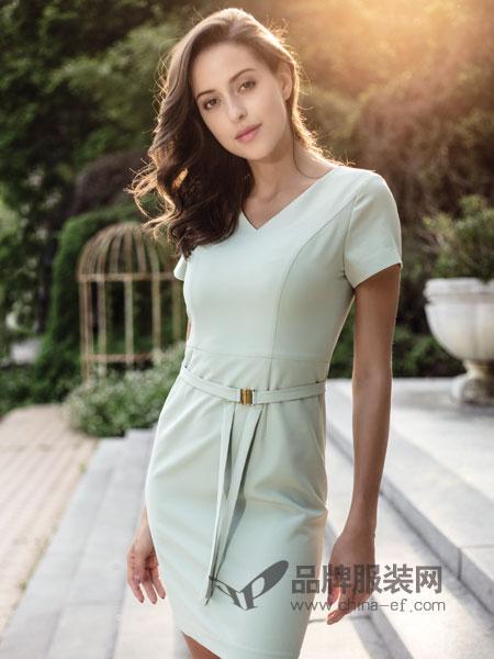 百诗雅兰女装2018春夏新品正装高档OL欧美修身工作裙