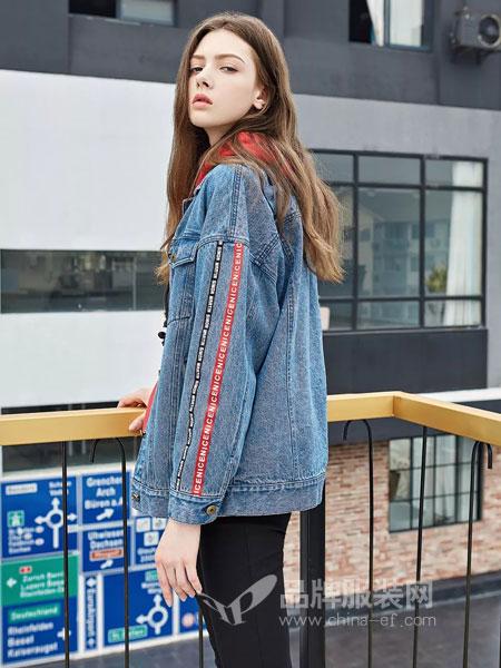 爱领领久ALLJ女装2018秋季韩版宽松长袖显瘦翻领水洗女外套