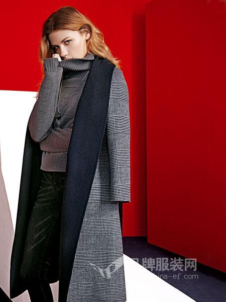 JAOBOO 乔帛女装2018秋季欧美休闲宽松蝙蝠袖中长款羊毛开衫