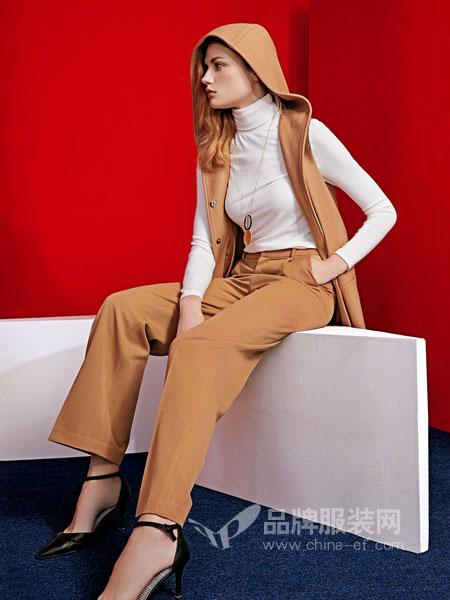 JAOBOO 乔帛女装2018秋季马夹背心中长款西装马甲外套显瘦