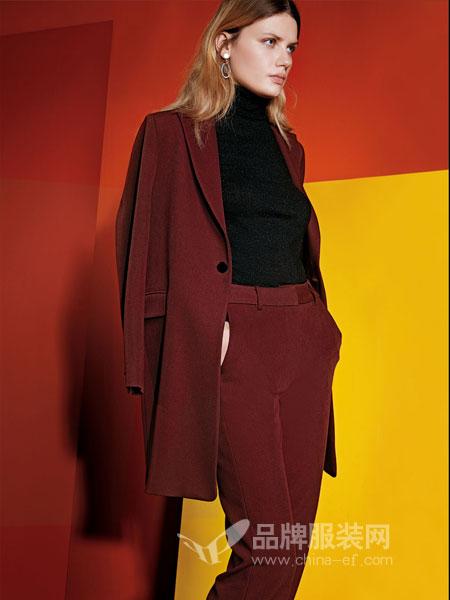 JAOBOO 乔帛女装2018秋季双面呢子外套 修身显瘦双面羊绒大衣女式