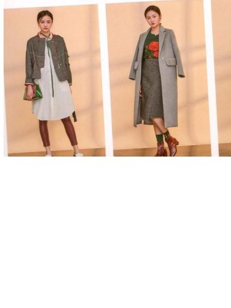 欧美一线品牌 欧丝蒂雅文18秋冬装时尚大衣品牌折扣女装批发走份女装2018冬季新品