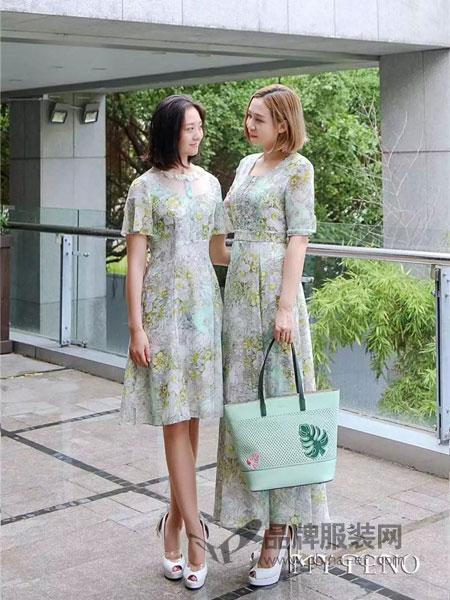 MyTeno女装2018秋季新款女装连衣裙