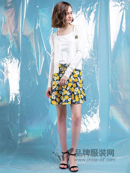 拉谷谷女装2018春夏薄款吊带背心配长袖短款冰丝针织两件套