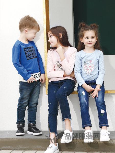杰米熊童装2018秋季家居服7儿童套装8纯棉1