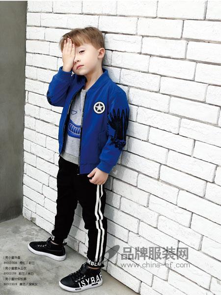 杰米熊童装2018秋季时尚贴标夹克中大童休闲新品潮流儿童外套