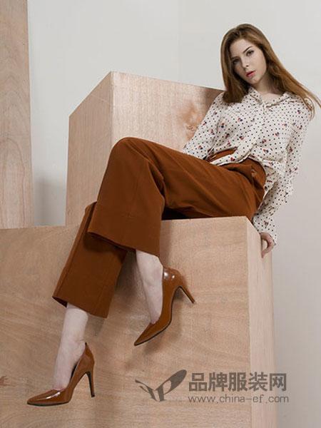 卡伊奴女装2018秋季九分韩版高腰宽松中线加厚百搭直筒裤