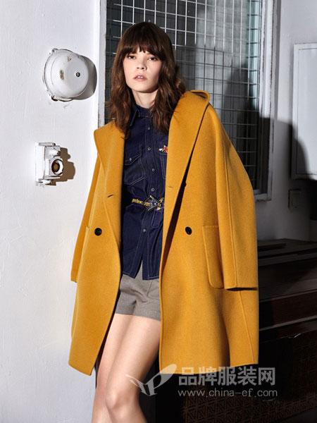 苏昔女装2018秋冬新款双面呢羊毛呢子外套