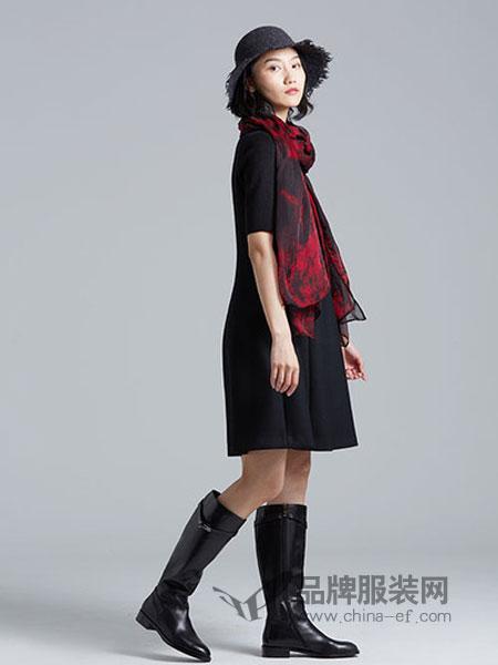 Guke谷可女装2018秋季新款韩版修身显瘦简约中长款A字裙中裙