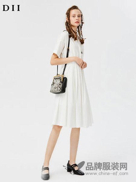 谜底女装2018秋季纯棉短袖衬衫连衣裙