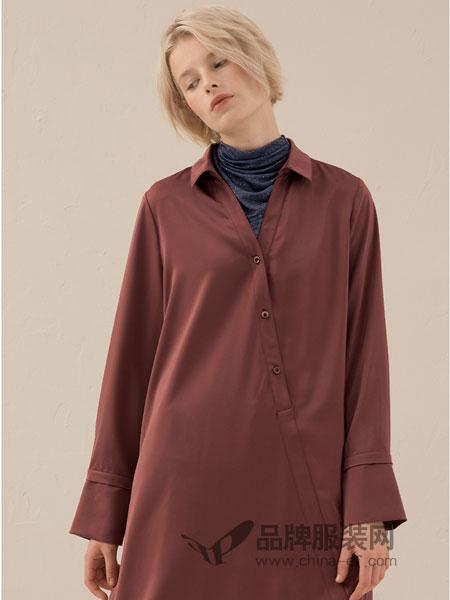 奕色女装2018秋季韩版时尚休闲显瘦纯色长衬衫
