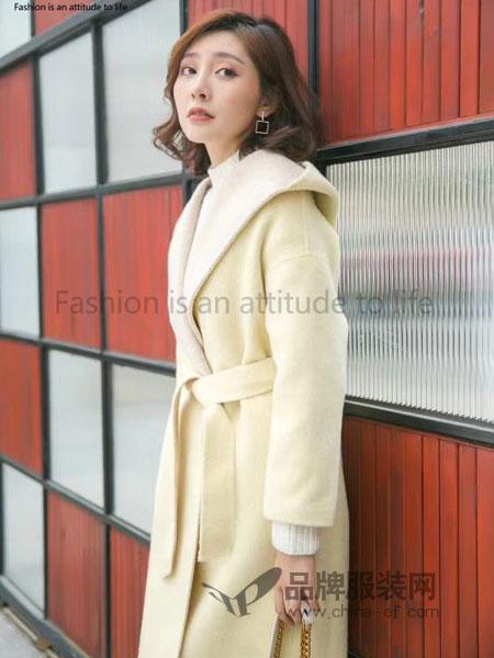 泰慕诗女装2018秋季灯笼袖韩版显瘦小个子斗篷呢子大衣