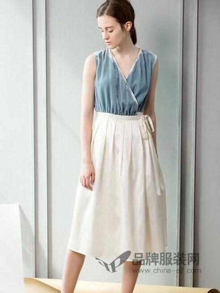 Zry Creative女装2018秋冬韩版气质系带收腰中长款裙
