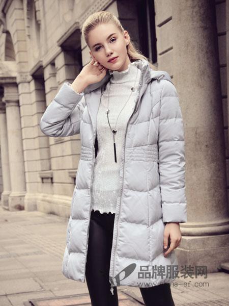 丹菲诗女装2018秋冬韩版修身高百搭显瘦中长款加厚羽绒服