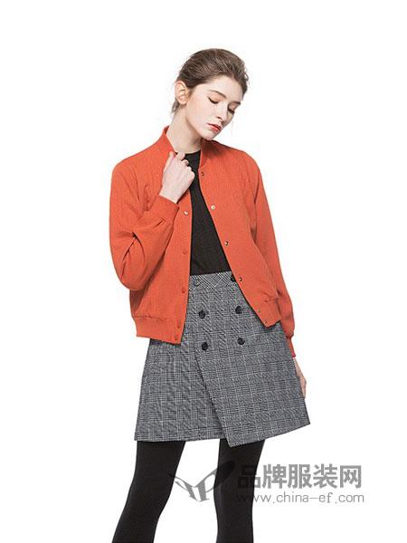 依洁思SwKzii女装2018秋冬新款 两面穿棒球领短款夹克