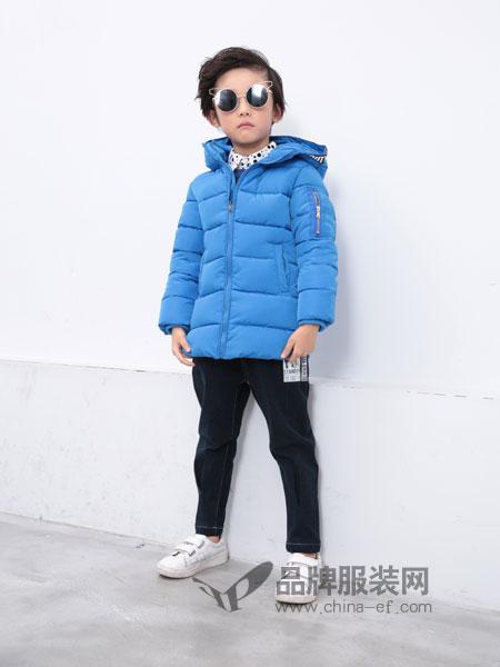 小马嘟嘟童装2018秋冬新品中小童纯色连帽男童棉衣外套