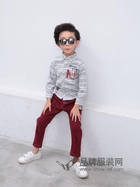 小马嘟嘟童装2018秋冬长袖中小童休闲衬衣纯棉儿童条纹衬衫