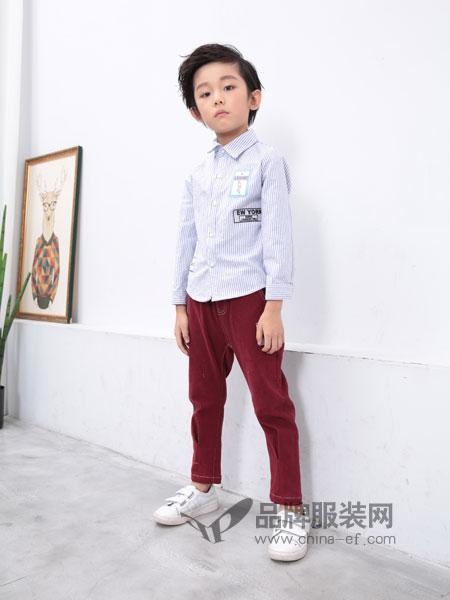 小马嘟嘟童装2018秋冬新款男童韩版中大童长袖衬衫
