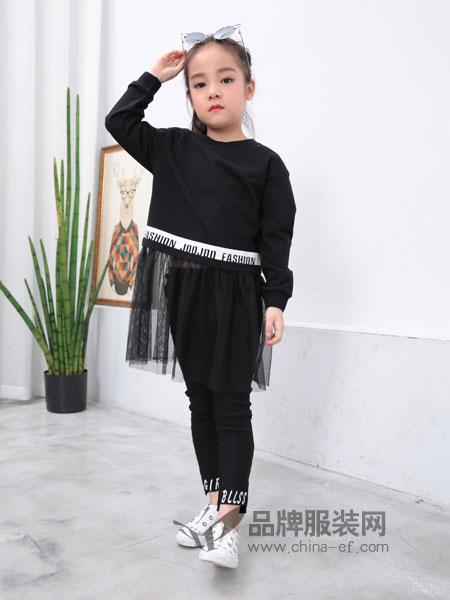 小马嘟嘟童装2018秋冬女童高领毛衣韩版儿童加绒针织衫