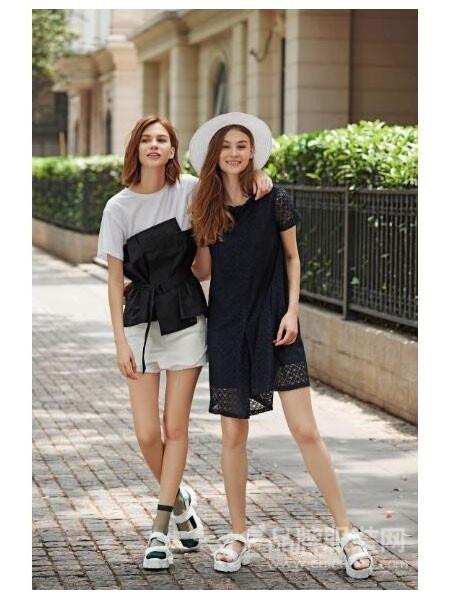 撒尼女装2018夏季时尚连衣裙