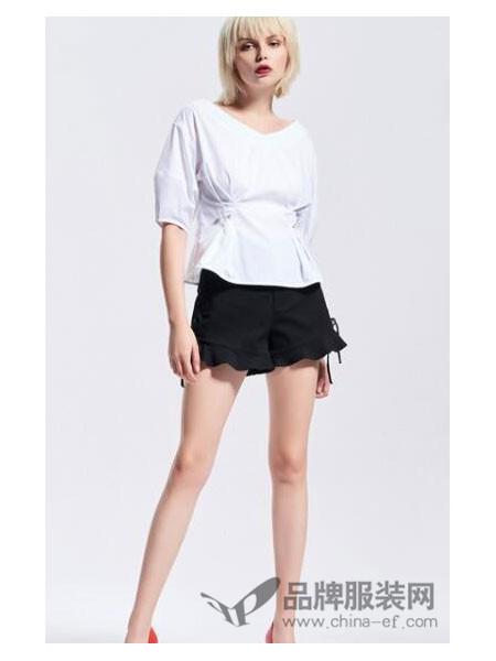 Five Plus女装2018夏季时尚V领上衣